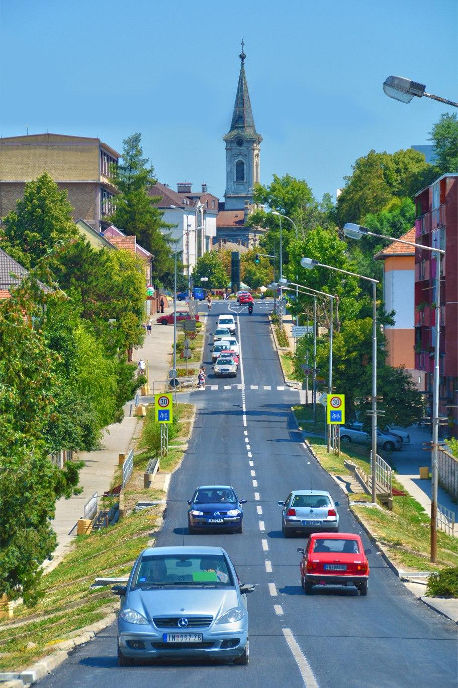 Cara Dušana street in Inđija