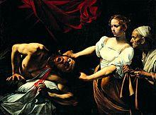 Caravaggio, Giuditta che taglia la testa a Oloferne, 1602 ca. Olio su tela, 145 × 195 cm. Roma, Palazzo Barberini, Galleria nazionale d'arte antica.