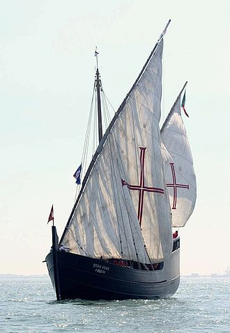 Portuguese Navy - Replica of a Portuguese caravel of the 15th century.