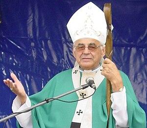 Cardinal Miloslav Vlk in Nový Knín, Czechia
