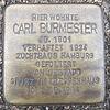 Stolperstein für Carl Burmester