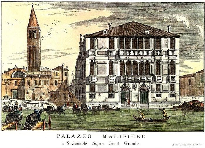 Carlevarijs- Veduta di Palazzo Malipiero