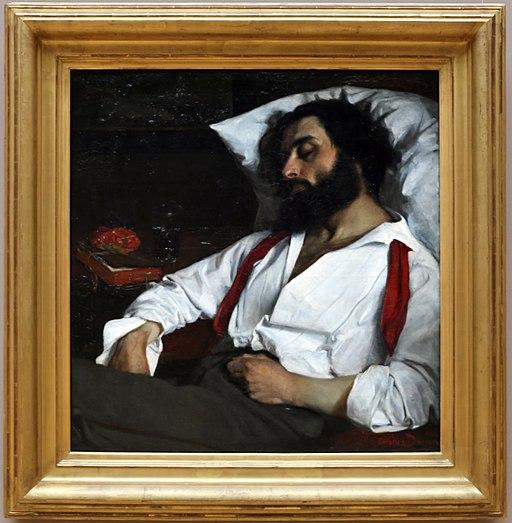 Carolus-duran, uomo che dorme, ante 1861