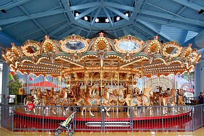The Woodside Amusement Park Carousel Now At Please Touch Museum