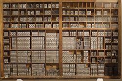 Casse de typographe, Grandjean - musée Champollion.JPG