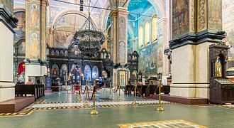 Dormition of the Mother of God Cathedral, Varna - View of the interior.