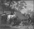 Cavalry Camp (Pieter van Bloemen) - Nationalmuseum - 17287.tif
