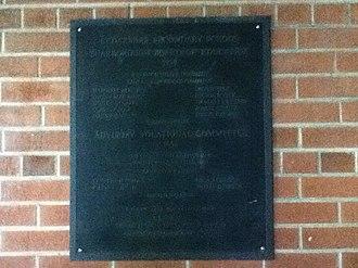 Cedarbrae Collegiate Institute - The wall plaque for Cedarbrae S.S. dated 1958.