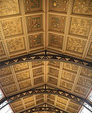 Ceilings of the Central Hall at the Natural History Museum, London