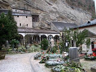 Petersfriedhof Salzburg cemetery in Salzburg, Austria