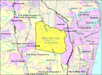 Colts Neck Township, New Jersey - Image: Census Bureau map of Colts Neck Township, New Jersey