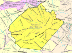 Census Bureau map of East Greenwich Township, New Jersey
