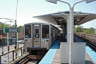 "Central station (CTA Green Line) Chicago ""L"" station"