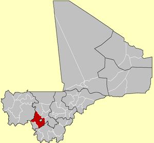 Location of Kati Cercle in Mali