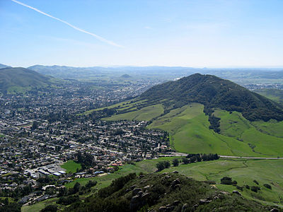 San Luis Obispo; Cerro San Luis (the Hill For Which The City Is Named) Is  On The Right