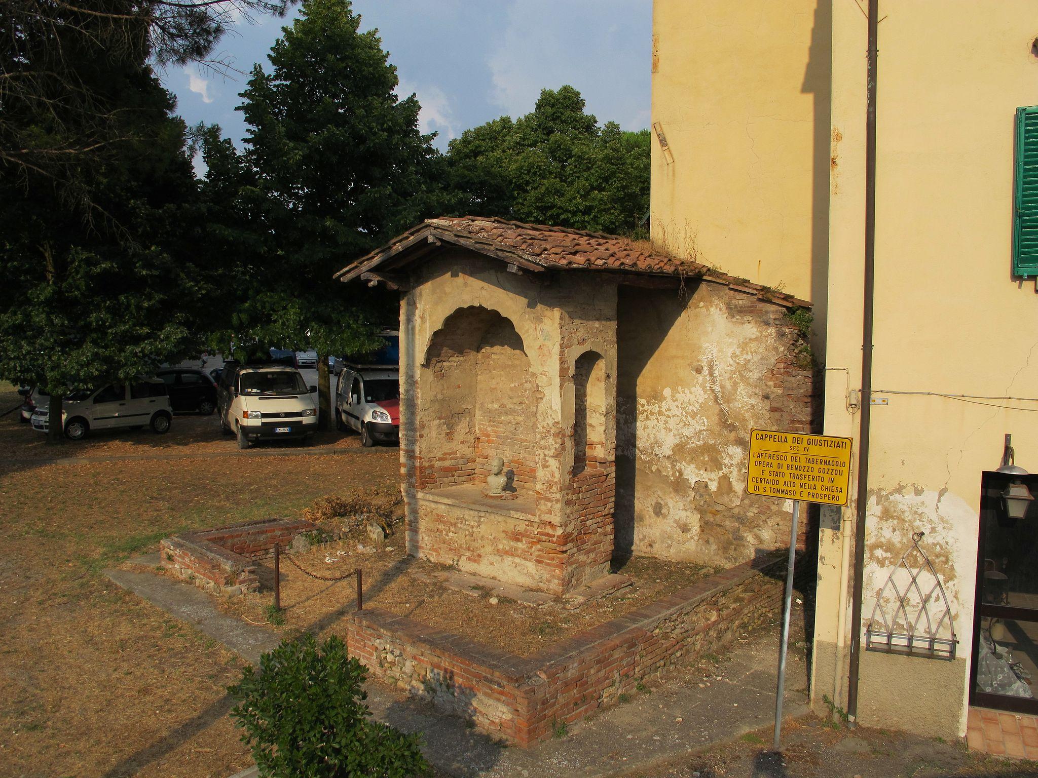 Certaldo, Muratura del Tabernacolo dei Giustiziati