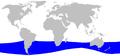 Cetacea range map Layards Beaked Whale.png