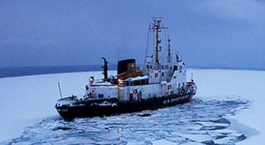 USCGC Katmai Bay (WTGB-101) - Katmai Bay breaking ice