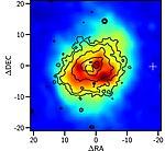 Chandra image of NGC 4636 with Hα+Nii contours.jpg