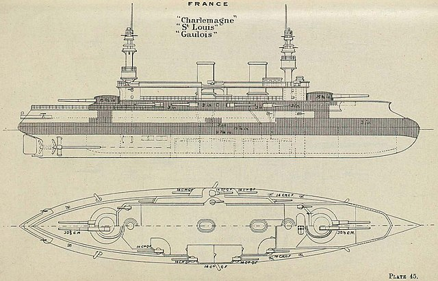 file charlemagne class battleship diagrams brasseys 1896 jpg