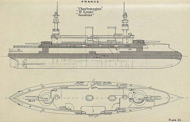 fichier charlemagne class battleship diagrams brasseys