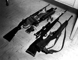 University of Texas tower shooting - Whitman's rifles and sawed-off shotgun