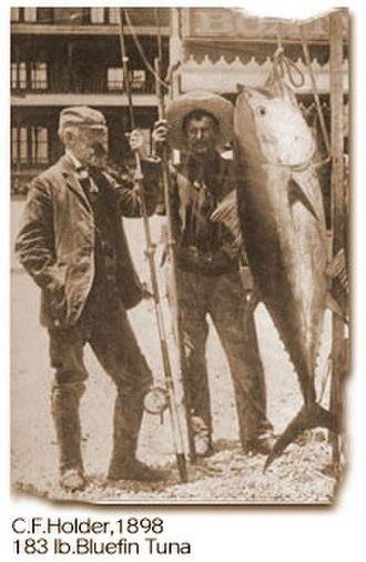 Charles Frederick Holder - Image: Charles f holder and tuna 1898