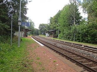 Neukieritzsch–Chemnitz railway - The halt of Chemnitz-Borna