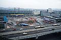 Chengdu Railway Station - Chengdu Metro Line 7 in process of buiding 20140924.jpg