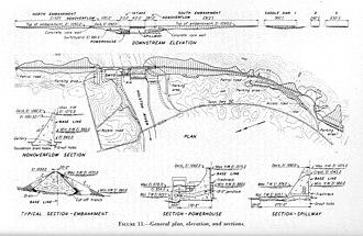 Cherokee Dam - Design plan for Cherokee Dam, circa 1940