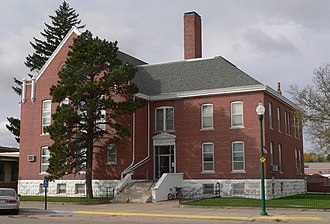 Cherry County, Nebraska - Image: Cherry County, Nebraska courthouse from NE 1