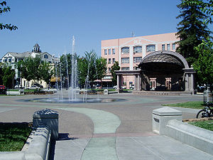 Chico, California - City Plaza in Chico in 2008