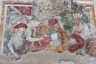 Gemona del Friuli - Image: Chiesa di Ognissanti Ospedaletto (UD) Lacerto di affresco