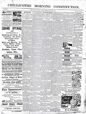 Chillicothe Constitution-Tribune - Image: Chillicothe Morning Constitution 01211890