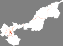 Location of Qianjin District in Jiamusi