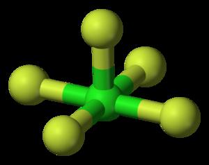 Chlorine pentafluoride - Image: Chlorine pentafluoride 3D balls