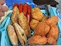 Chorizo papa rellena buñuelo de frijol patacones rellenos.jpg