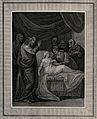 Christ raises Jairus' daughter. Engraving. Wellcome V0034921.jpg