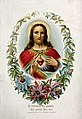 Christ showing his Sacred Heart. Colour lithograph. Wellcome V0035655.jpg