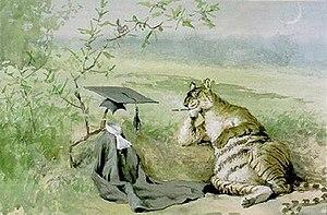 Frederick Stuart Church - Tiger having eaten professor, 1905.