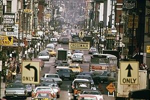 Vine Street, Cincinnati - Vine Street in 1973.