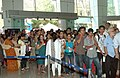 Cine goers at 'INOX' the one of the venues of the 41st International Film Festival of India (IFFI-2010), at Panaji, Goa on November 25, 2010.jpg