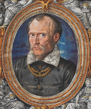 Cipriano de Rore - Detail of a miniature of Cipriano de Rore by Hans Müelich, probably 1558 or 1559