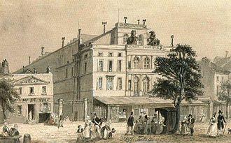 España (Chabrier) - Cirque Olympique, where España was first heard (Jacques Testard, ink and gouache).