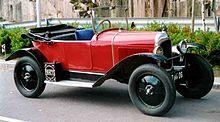 Una Type C, altro modello di gran successo nei primi anni di vita della Citroën