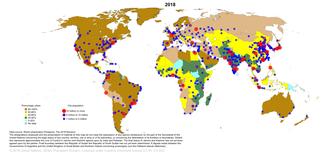 Global urbanization map