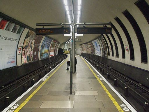 Clapham North stn look north