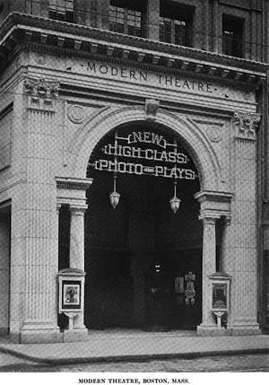 Modern Theatre (Boston) - Image: Clarence Blackall theatre 4 Boston American Architect March 1915