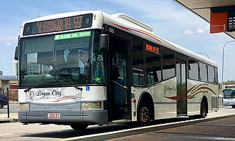 Clarks Logan City Bus Service - Clarks Logan City Bus Service bus (Bustech VST bodied Volvo B12BLE) at Springwood bus station, Australia in 2016.