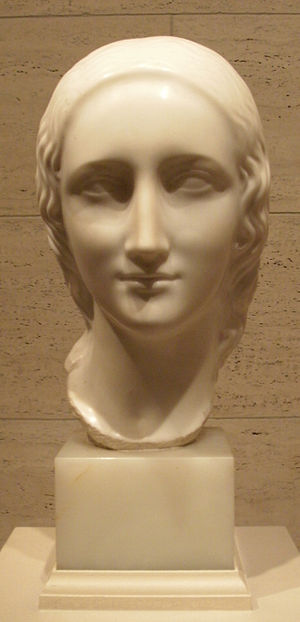 Elie Nadelman - Classical Head, marble, c. 1916-17, in the National Gallery of Art